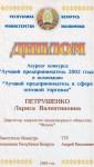 Диплом_Лучший предприниматель 2002